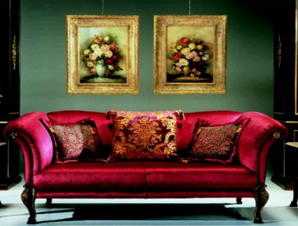 Кралско червени мебели в бароков стил?
